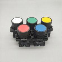 22 мм Мгновенный плоская кнопка переключатель XB2- EA31 EA42 ZB2-BE101C 102C NO/NC 10A самовозврата Мощность стартера красного и зеленого цвета