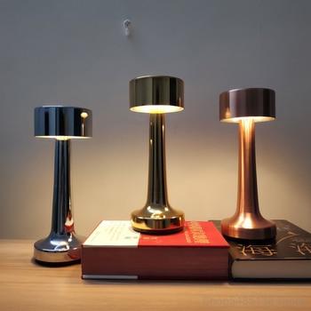 Cordless Battery Table Lamps Bar Restaurant Modern Portable Desk Lamp Led Chargeable Night Lights Bedside Bedroom Light Fixtures