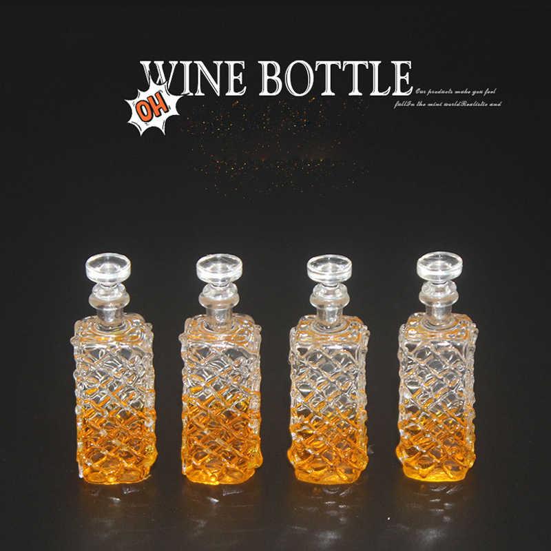 1:12 domek dla lalek miniaturowe akcesoria mini wino zestaw butelek symulacja napoje zabawki modele dla dekoracja do domku dla lalek whiskey wino