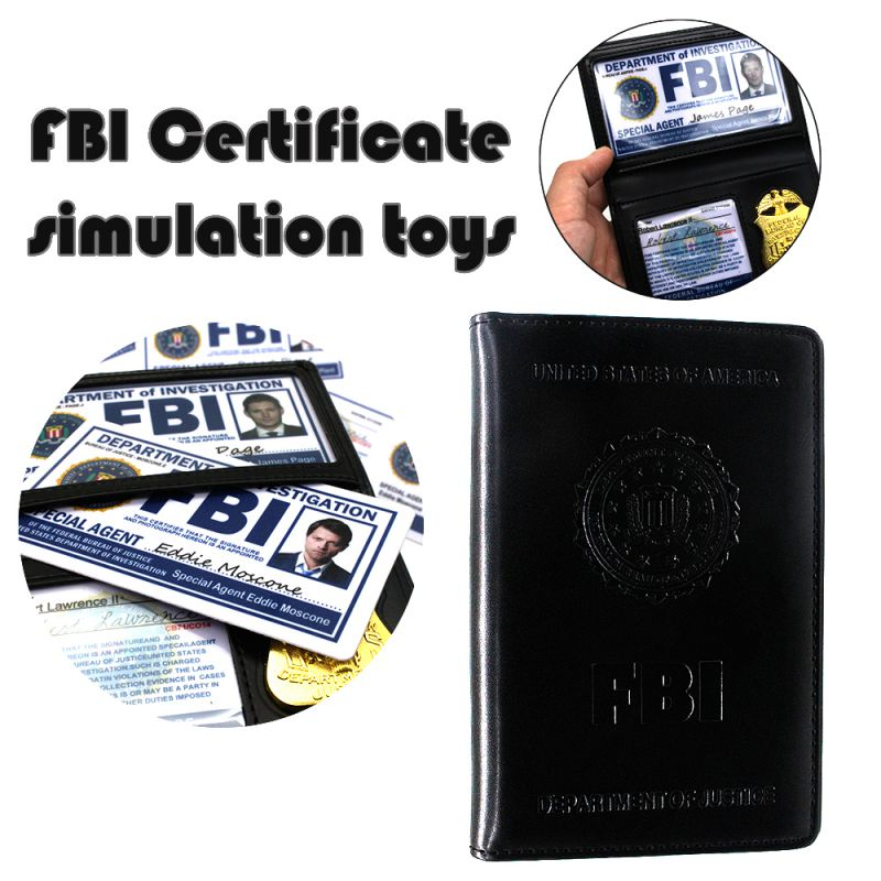 Halloween Dress up Party Costume FBI/CIA Cosplay Badge ID Card Certificate Accessories for Halloween Masquerade Supplies
