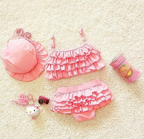 2018 South Korea New Style Size Girls South Korea Infant Cute Princess Bikini CHILDREN'S Baby Kids Swimming