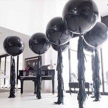 5 stücke 36 zoll Großen Schwarzen Latex Luftballons Helium Inflable Blow Up Riesen Ballon Hochzeit Geburtstag Party Große Ballon Dekoration
