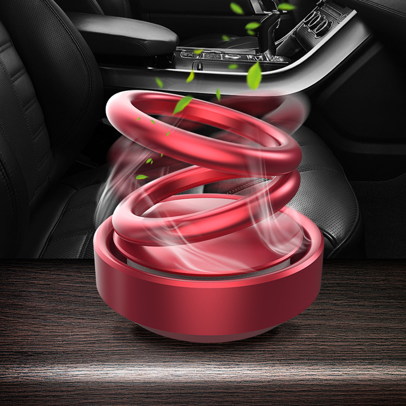 Car Aromatherapy Double Rings Rotary Suspension Rotating Air Freshener Dashboard Perfume Car Auto Diffuser Perfume Car Ornament