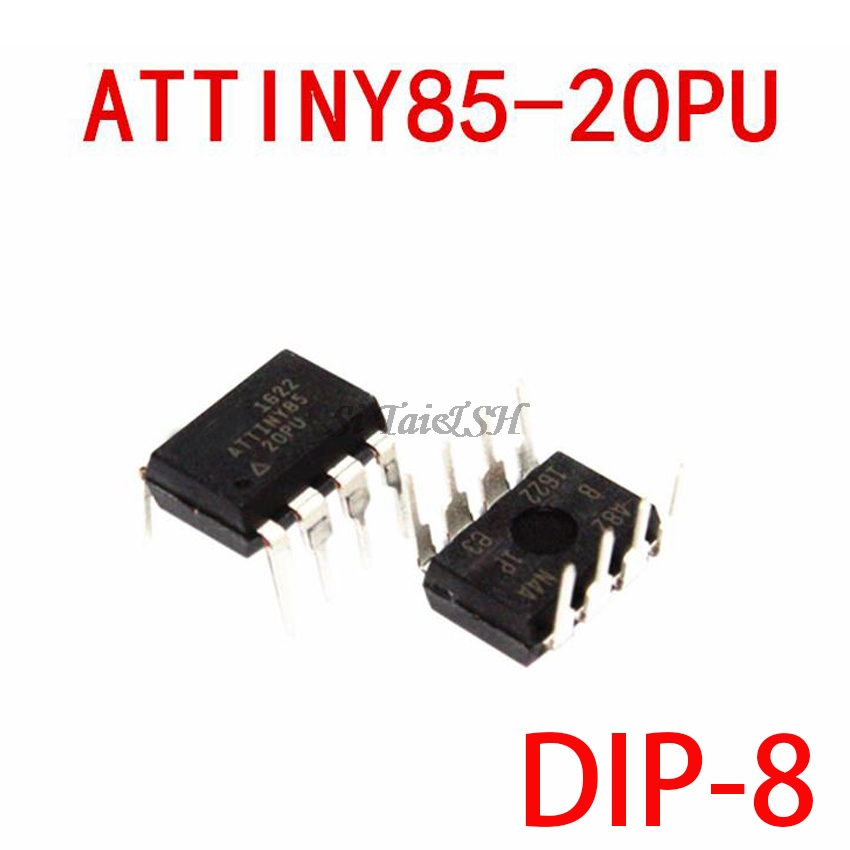 1PCS ATTINY85-20PU DIP-8 ATTINY85 DIP8 85-20PU ATTINY85-20 DIP New And Original