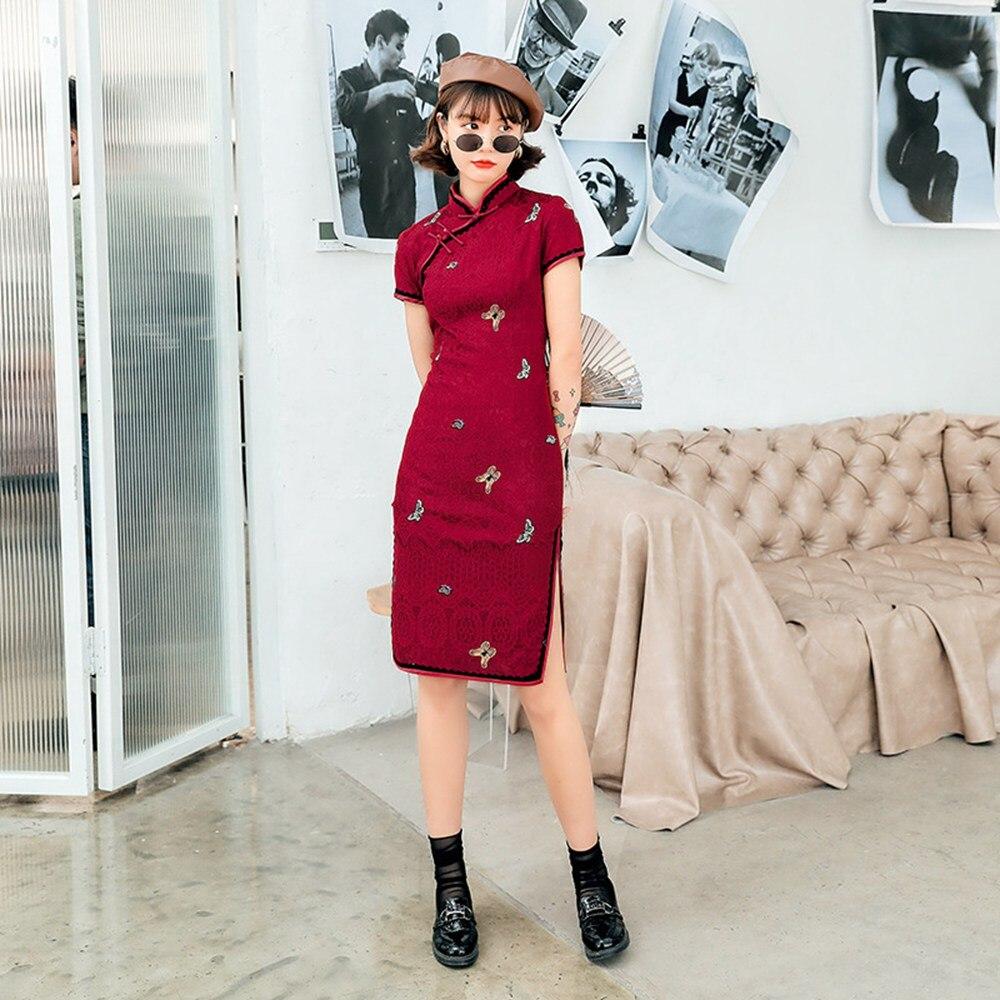 2020 May New Arrival ! Qipao Cheongsam Mandarin Gown Chipao Chinese Traditional Dress Cheongsam Chinese Banquet Dress Girl Red