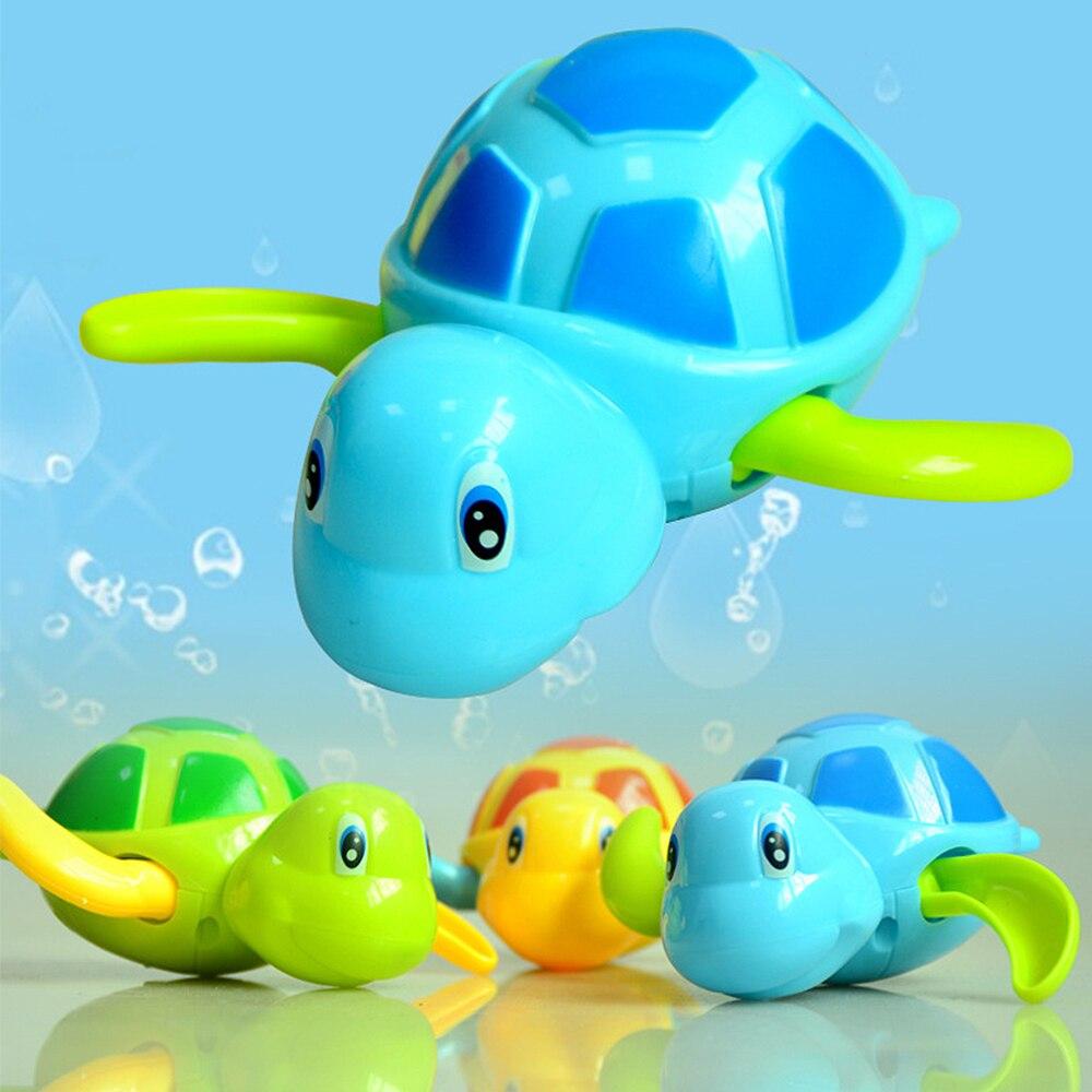Single Sale Cartoon Animal Tortoise Classic Baby Water Toy Infant Swim Turtle Wound-up Chain Clockwork Kids Beach Bath Toys