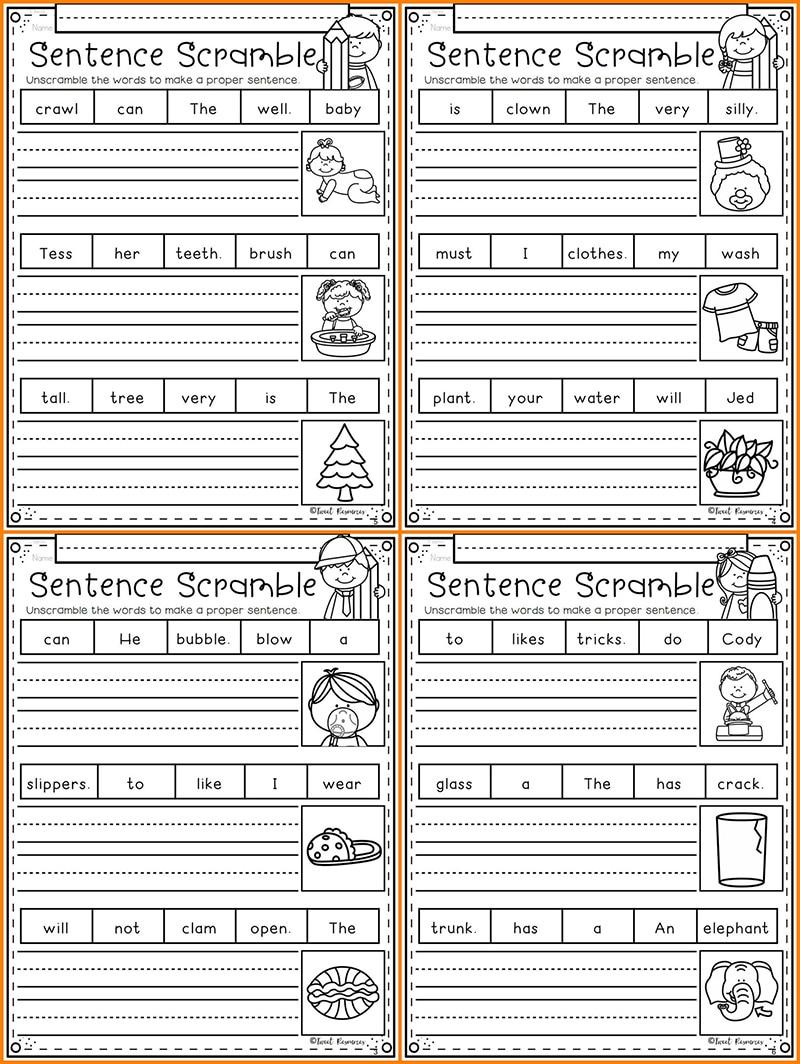 Phonics Sentence Scrambles for Kindergarten and First Grade Worksheets  Preschool Learn English Words Passages Workbooks Kids    - AliExpress [ 1064 x 800 Pixel ]