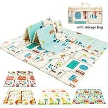Складной ползать ковер детский игровой коврик складное покрывало развивающий детский игровой коврик Водонепроницаемый XPE мягкий напольны...