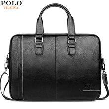 Vicunha polo alta qualidade homem de couro saco do mensageiro marca dos homens maletas negócios 15.6 polegada bolsa para portátil sacos ombro