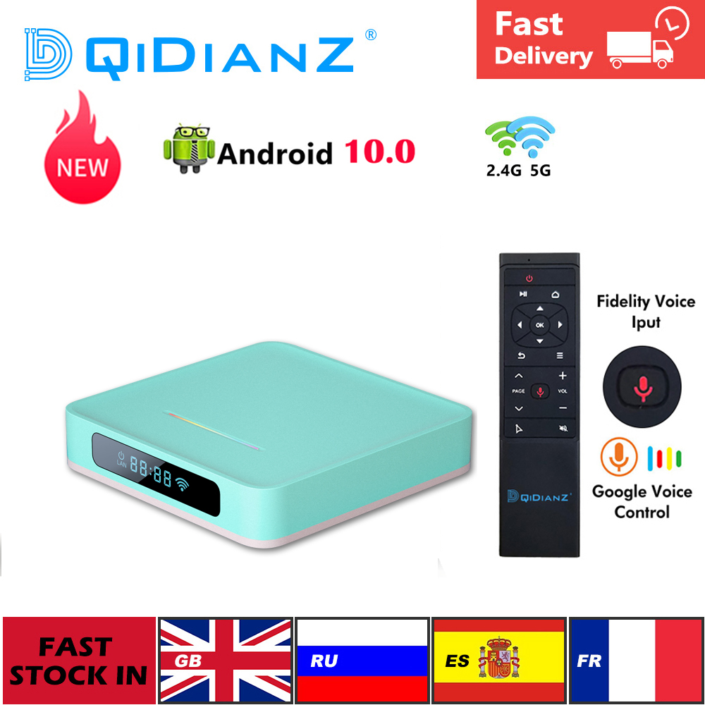 NEW Android 10 A95XR5 Smart TV Box QuadCore RK3318 Dual WiFi 4K 1080P Set  top Box Media Player Store Youtube pk x96air h96|Set-top Boxes