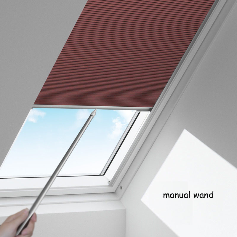 Manual Model Skylight Blinds For Balcony Dormant Window Honeycomb