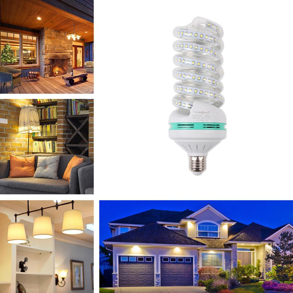 5/7/9/12/16/20/24/30W 360 Degree LED Highlight Spiral Corn Bulb 85-265V E27 Warm Light 20W Energy Saving Lamps