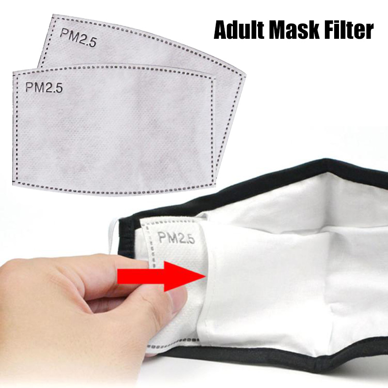 Adult Mask Filter Activated Carbon Breathing Replace Filters PM2.5 Anti Haze Mouth Masks Anti Dust Air Face Masker Filter Paper