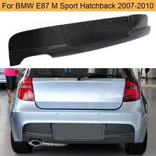 Диффузор заднего бампера из углеродного волокна для BMW 1 серии E87 M Sport Hatchback 120i 130i 2007-2010 Черный FRP задний диффузор