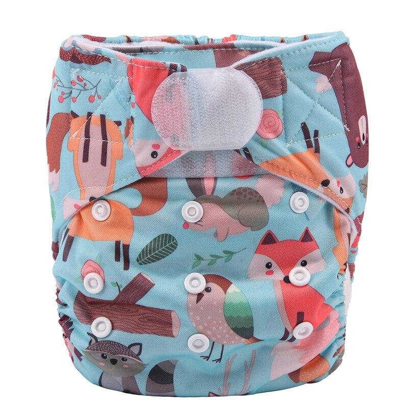 [Sigzagor] 1 тканевый подгузник с карманами для детей, подгузник с застежкой-липучкой, с широкими полосками на талии - Цвет: DV1