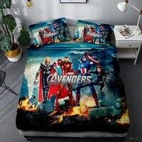Avengers 3pcs custom bedding set Iron Man quilt American captain Raytheon pillowcase designer bedding luxury