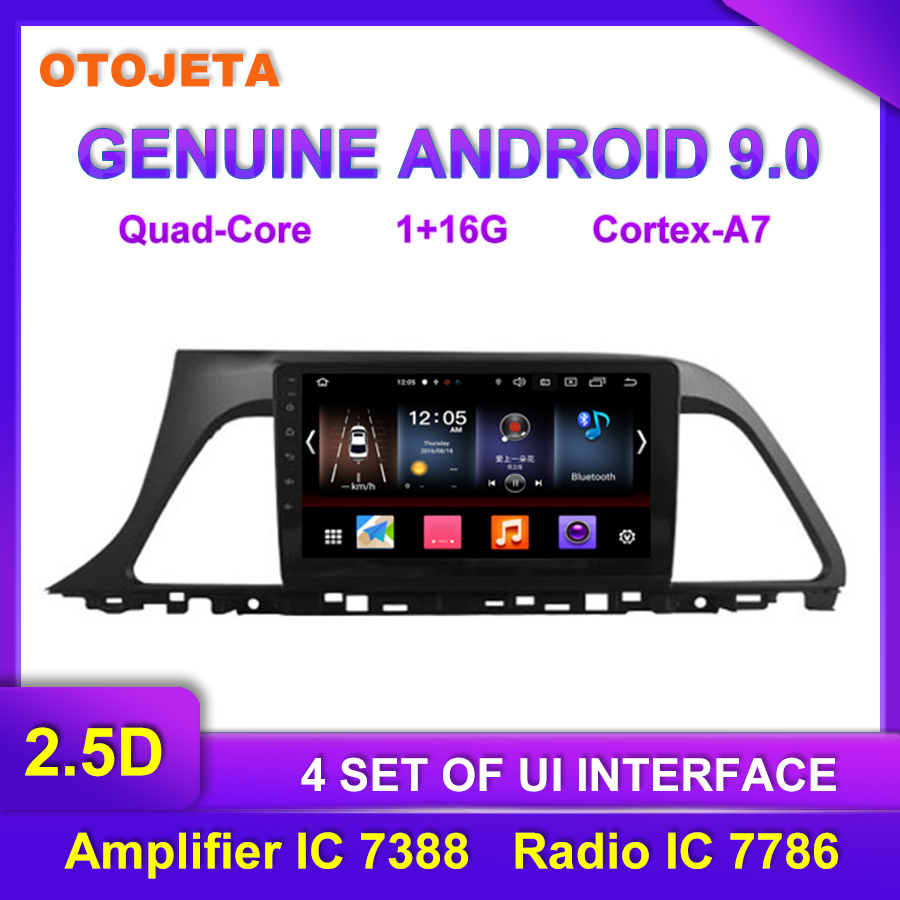Factory Direct Sale OTOJETA Android 9.0 Car Multimedia Radio For Hyundai Sonata Tape Recorder GPS AUX USB Bluetooth Navigation