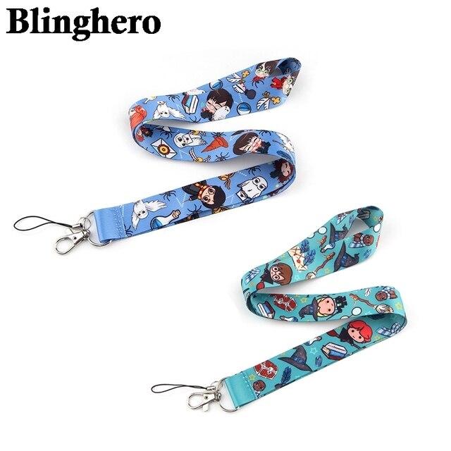 CA1353 Wholesale 20pcs/lot Magic Shcool Lanyard Mobile Phone Strap ID Card Badge Holder Rope Key Chain Keyrings Cosplay Webbing 1