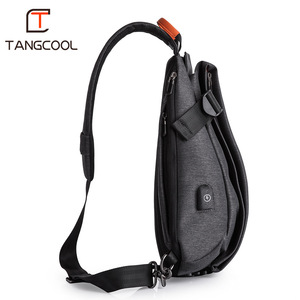 Image 4 - Tangcool Brand Design Fashion Unisex Men Leisure Messenger Bags s Cross Body Bags Leisure Chest Pack Shoulder Bags for Ipad