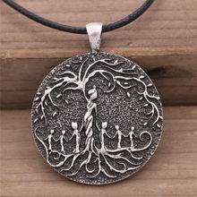 Viking árvore da vida pingente colar celta mundo árvores nórdico mitologia nordic colares charme jóias