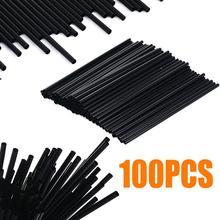 Drinking-Straw Birthday Plastic Black Wedding-Party-Supplies for Home 100pcs/Lot DIY
