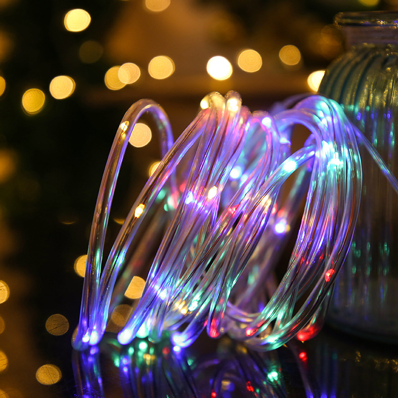 7/12M LED Solar Light String Outdoor Waterproof Garden Fairy Lights Christmas Wedding Holiday Solar Lamp Decoration