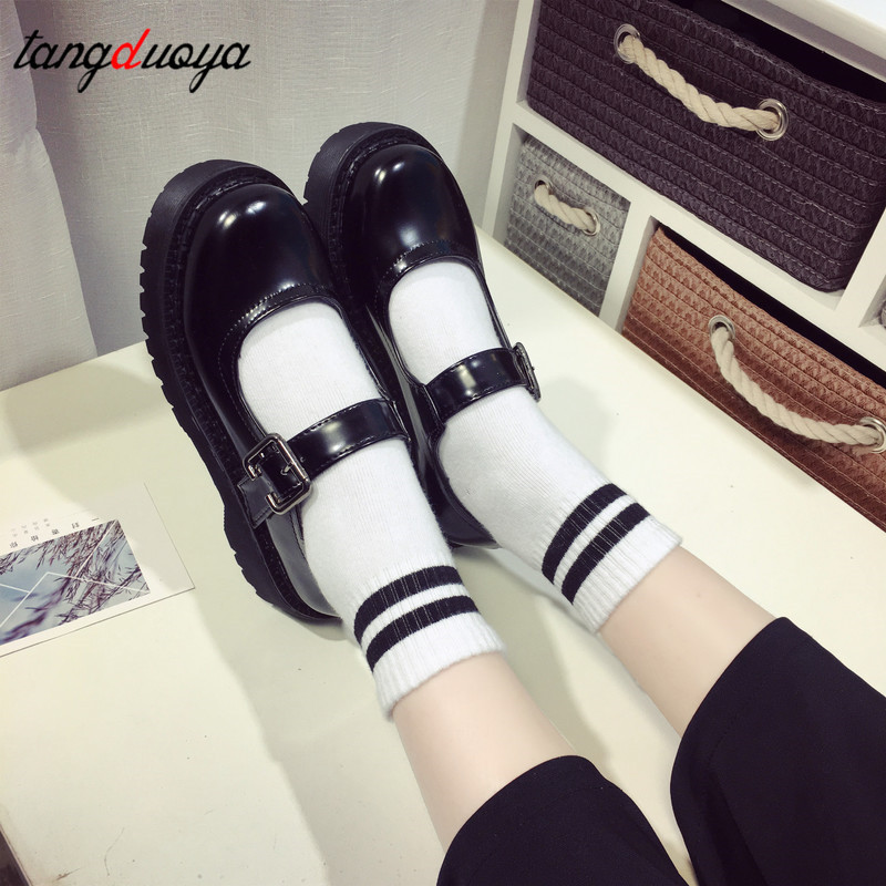 Platform Lolita Shoes Japanese Sweet Lolita Princess Shoes Cute Round Head Platform College Women Shoes Ulzzang Harajuku Shoes