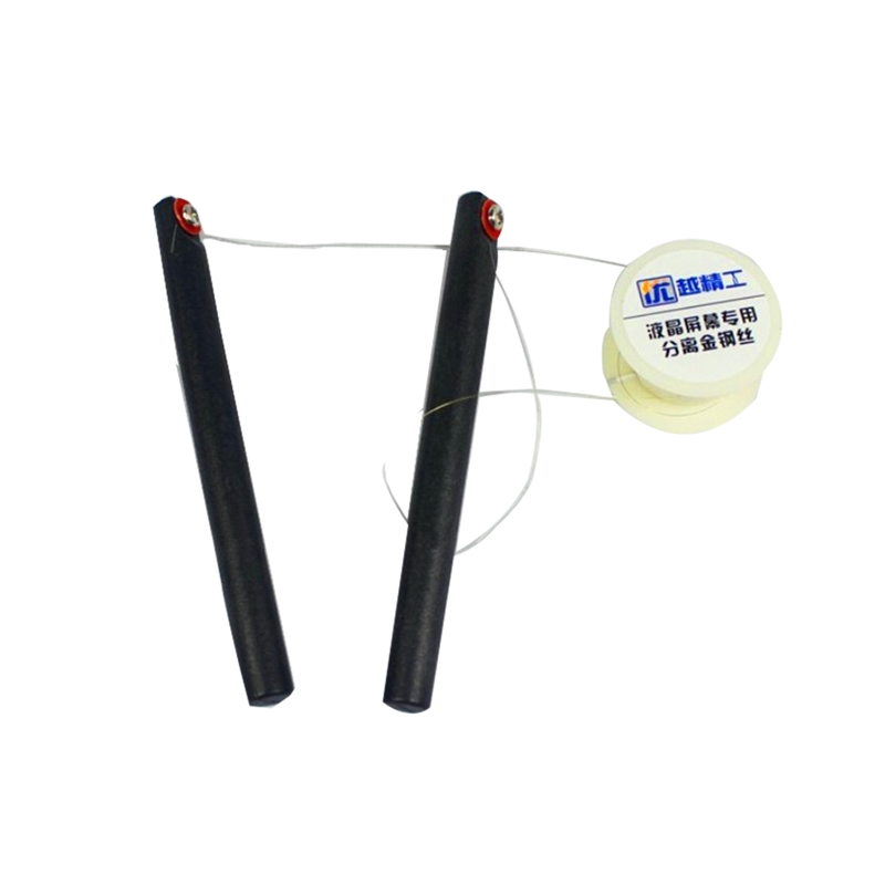 1PCS Diameter 0.08mm 100m Molybdenum Wire LCD Separating Screen Cutting Line With Handle Bar For Iphone Glass Separator Oca Kit