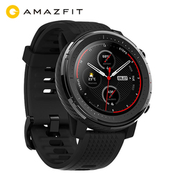 Vorverkauf Amazfit Stratos 3 GPS Smartwatch 14-tag Batterie 19 Modi Sport Uhr 5 ATM Wasserdichte Bluetooth Musik Spielen herz Rate