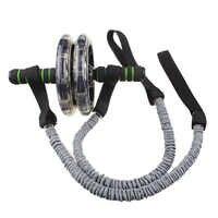 1 пара тянущиеся эластичные для спортзала, фитнеса, практичные веревки, роликовые колеса, тянущиеся для похудения, прочные аксессуары для уп...