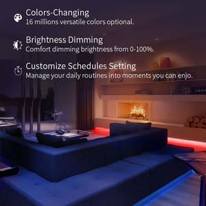 Image 4 - Yeelight Aurora LED Light Strip Plus Smart Wifi supporto Xiaomi Mi Home Apple Homekit Amazon Alexa Google Assistant voice control