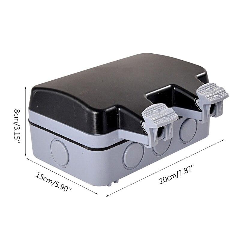Купить внешняя уличная настенная розетка ip66 2 слота пылезащитный