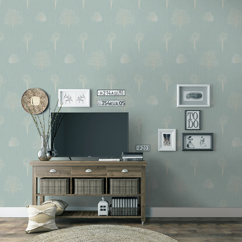 Modern Minimalist Hotel Home Improvement Living Room Television Background Wall Seamless Nonwoven Fabric European Style Environm