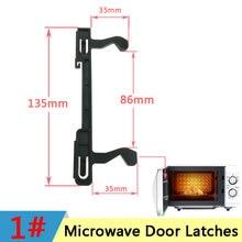 Microwave Hook Door Latches for Samsung Galanz Panasonic Midea Microwave Oven Hook Door Latch Spare Parts Accessories WBLMG-1#-1