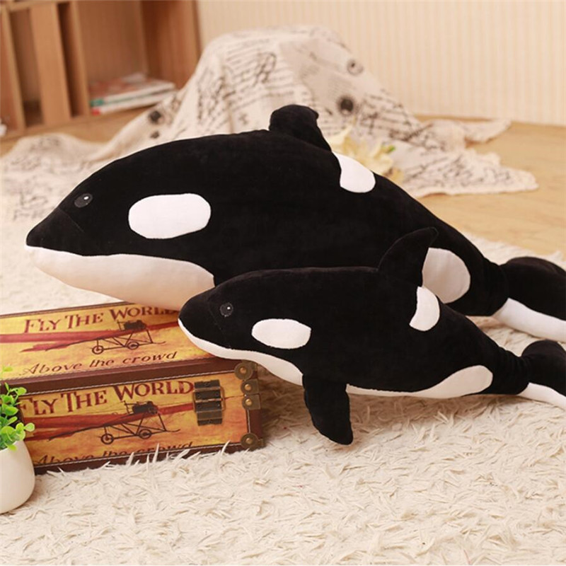 Killer Whale Doll Pillow Whale Orcinus Orca Whale Plush Toy Doll Shark Kids Boys Girls Soft Toys Birthday Christmas Gift image