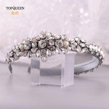 Topqueen s350 fg свадебные стразы аксессуары для волос свадебная