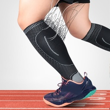 Durable Breathable Lower Leg Long Sleeve Knitted Compression Support Outdoor Running Football Leggings Sports Gear