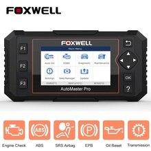 FOXWELL NT614 Elite OBD skaner OBD2 cztery System EPB serwis oleju Reset skaner samochodowy OBDII profesjonalne narzędzie diagnostyczne do samochodów