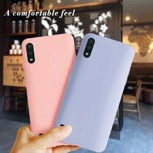 Dla Samsung Galaxy A01 A 01 przypadku rdzenia proste cienkie TPU luksusowe telefon tylna pokrywa dla Samsung A01 A015F A01 rdzeń A013F A01Core przypadki