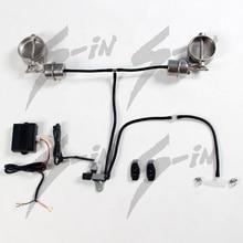 Вакуумный выпускной клапан 89 мм двойной вырез наборы клапанов вырез вакуумный клапан комплект выхлопа управление звуками 3,5 дюймов дистанционный клапан управления