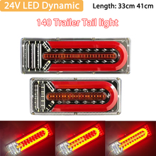 Çift 24V LED dinamik araba kamyon arka lamba arka stop fren işık dönüş sinyali lambası römork Van tekne RV karavan otobüs kamyon