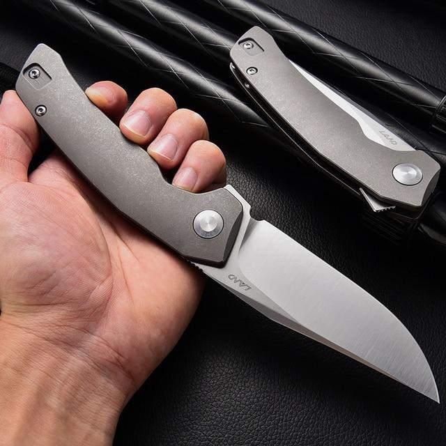 LAND 140 Needle Bearing Pocket Folding Knife VG10 Blade TC4 Handle Outdoor Camping  Survival Hunting Tactical EDC Tool Knives 4