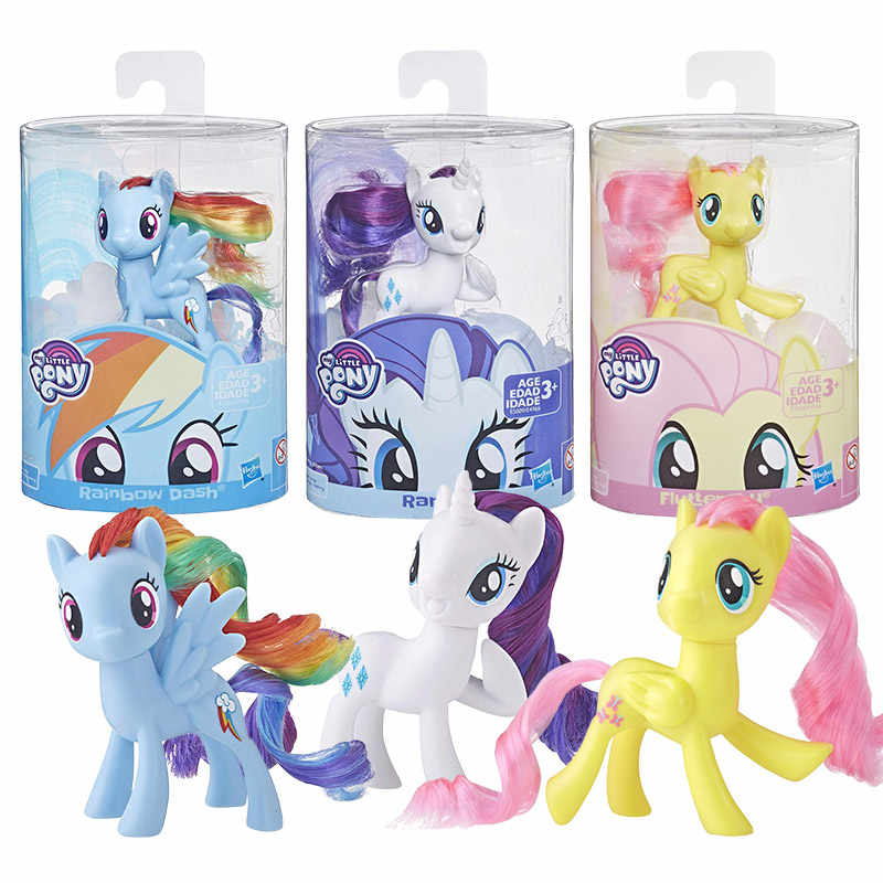Fluttershy 2 Inch Figures new My Little Pony Set Of 4 Applejack Rainbow dash