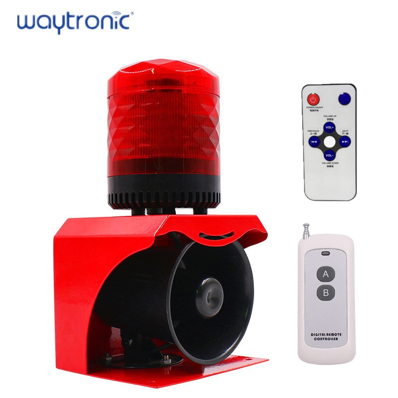 Wireless Remote Control Sound-light Alarm Adopts The Acousto-optic Control Technology Remotely Control The Device