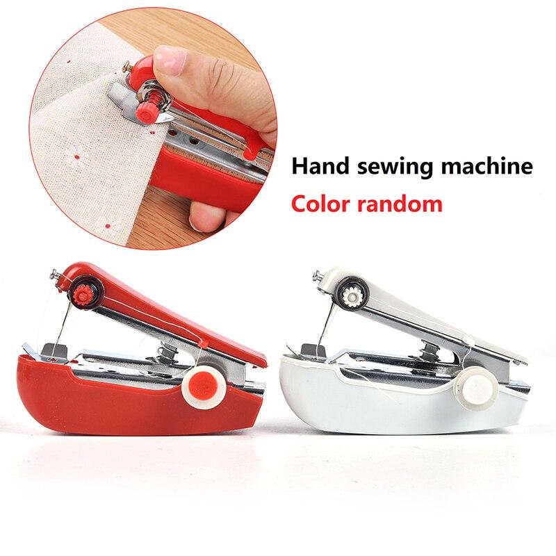 1 шт. Портативный мини ручная швейная машина простой Управление швейные инструменты швейная ткань удобный инструмент для рукоделия