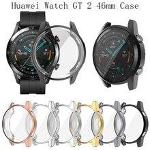 Защитный чехол для часов huawei Watch GT 2 Чехол 46 мм Мягкая Силиконовая защита для экрана из ТПУ чехол для GT 2 защитный чехол