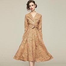 Zuoman mulheres outono elegante com decote em v vestido festa feminina de alta qualidade longo escritório festa robe femme vintage designer vestidos