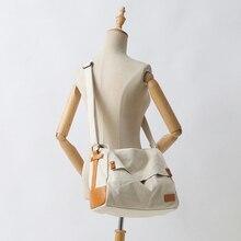 YIFANGZHE Canvas Cotton Shoulder Bag Unisex Vintage Designer Sport Travel Messenger Laptop Bags Genuine Leather Crossbody Purse