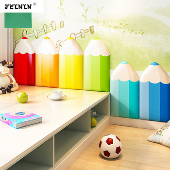Pencil pattern children anti-collision soft wall stickers anti-collision crib side baby bed head anti-collision 3D wall stickers фото