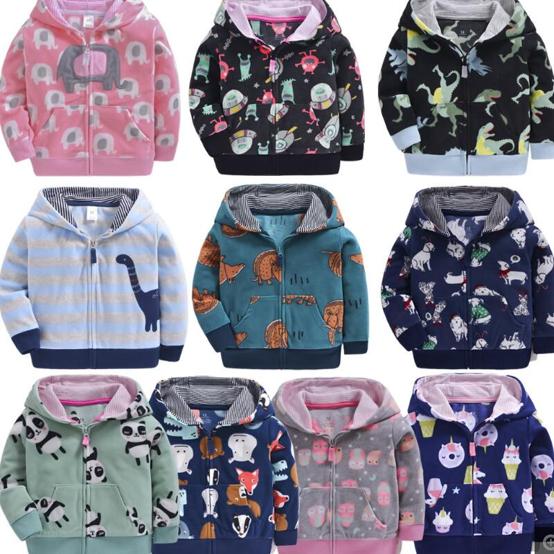 Toddler kids coats fleece boys jacket children clothes dinosaur girls clothes rainbow  kids jacket baby girl coat spring autumn 1